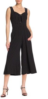 Gabby Skye Polka Dot Sleevless Jumpsuit