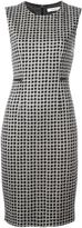 Max Mara patterned fitted dress - women - Polyester/Acetate/Virgin Wool - 42