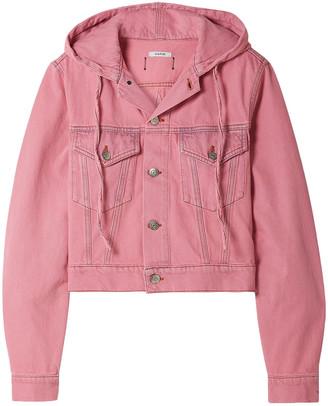Ganni Cropped Denim Hooded Jacket