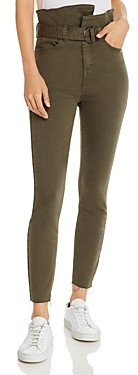Pistola Denim Alicia Paperbag-Waist Skinny Jeans in Dark Moss - 100% Exclusive