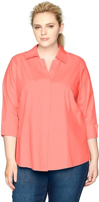 Foxcroft Women's Plus-Size Taylor Essential Non-Iron Blouse