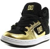 DC Rebound High Round Toe Canvas Skate Shoe.