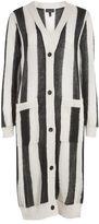 Topshop Vertical stripe longline cardigan