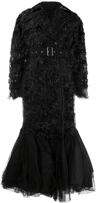 Comme des Garcons Rosette-Embellished Chiffon And Tulle Down