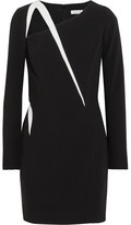 Thierry Mugler Cutout Two-tone Crepe Mini Dress - Black
