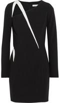Thierry Mugler Cutout Two-tone Crepe Mini Dress - Black