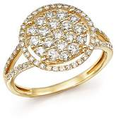 Bloomingdale's Diamond Halo Cluster Ring in 14K Yellow Gold, 1.0 ct. t.w. - 100% Exclusive
