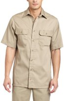 Carhartt Men's Big & Tall Twill Short Sleeve Work Shirt Button Front