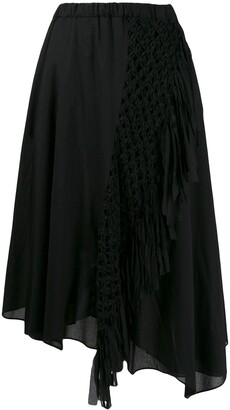 Zucca Macrame Braided Asymmetric Skirt