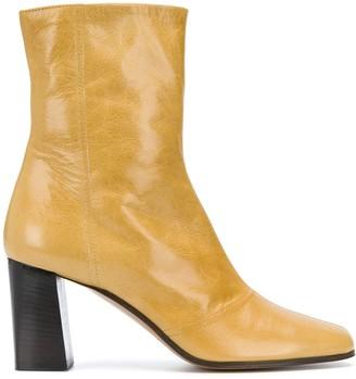 Michel Vivien Jaune ankle boots