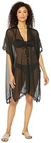 Bleu Rod Beattie Gypset Kimono Caftan Cover-Up (Black) Women's Swimwear