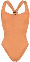 Hunza G Zora tortoiseshell loop swimsuit