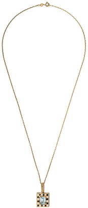 Nevernot 18kt Gold Checked Necklace