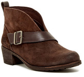 UGG Wright Belted Genuine Shearling Lined Bootie