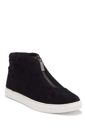 Kenneth Cole New York Kayla Front Zip Suede Sneaker