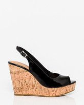 Le Château Patent Leather-Like Slingback Wedge