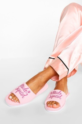 boohoo Bride Squad Slippers in a Bag