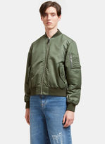 J.w. Anderson Men's Satin Bomber Jacket In Khaki