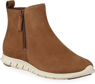 Cole Haan Zerogrand Waterproof Zip Booties, Bison Brown