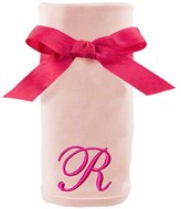 Princess Linens Embroidered Pink Initial Cotton Knit Blanket, R
