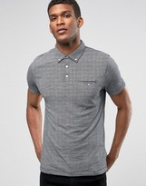 French Connection Micro Check Polo