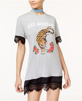 Hybrid Juniors' Los Angeles Graphic T-Shirt Dress