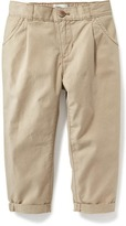 Old Navy Pleated Canvas Ankle-Pants for Toddler Girls