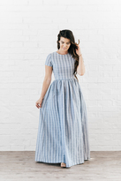 Shabby Apple Gemma Maxi Dress Blue & White