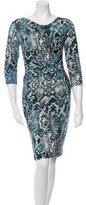 David Meister Printed Knee-Length Dress