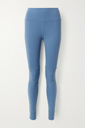 Alo Yoga Avenue Paneled Stretch Leggings - Light blue
