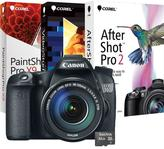 Canon EOS 70D 20.2MP Digital SLR Camera with EF-S 18-135mm Lens, 16GB Memory Card and Digital Creative Suite 2.0 Software
