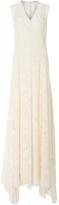 ADAM by Adam Lippes Fil Coupe Silk V-Neck Dress