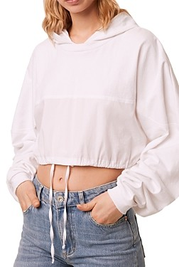 French Connection Rusha Cotton Cropped Hoodie