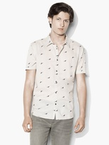 John Varvatos Short Sleeve Crow Shirt