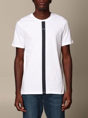 Armani Collezioni Armani Exchange T-shirt Armani Exchange T-shirt With Vertical Logo