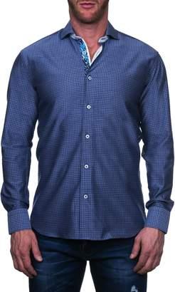 Maceoo Einstein Regular Fit Blossom Blue Button-Up Shirt