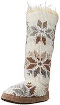 Muk Luks Women's Ivory Maleah Winter White Slouch Boot
