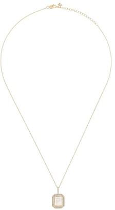 Mateo 14K yellow gold P-initial diamond necklace