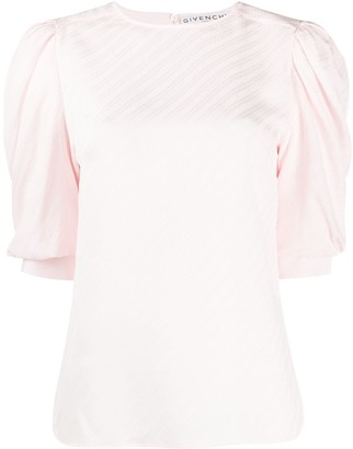 Givenchy Chaine motif puff sleeve blouse