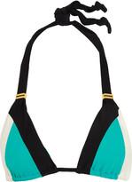 Vix Bia color-block triangle bikini top