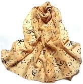 ABC Women's Scarf, Women Lady Musical Note Chiffon Neck Scarf Shawl Muffler Scarves