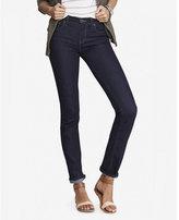 Express dark mid rise skinny jeans