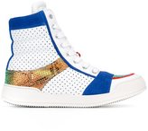 Balmain punch hole hi-top sneakers