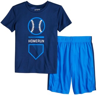 "Boys 4-12 Jumping Beans Baseball ""Homerun"" Graphic Tee & Shorts Set"