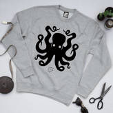 Art Disco 'Squid Ink' Octopus Unisex Sweatshirt