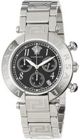 Versace Women's Q5C99D009 S099 New Reve Round Stainless Steel Dial Chronograph Date Watch