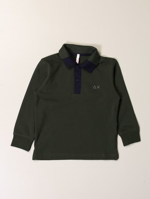 Sun 68 Basic Polo Shirt With Patches