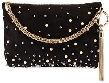 Jimmy Choo Callie Upe Pearly Shoulder Bag