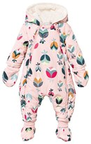 Catimini Pink Multi Print Snowsuit with Detachable Mittens and Booties