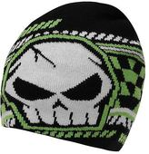 No Fear Kids MX Beanie Hat Junior Boys Fine Knit Snow Winter Warm